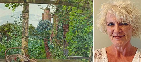 British garden painting