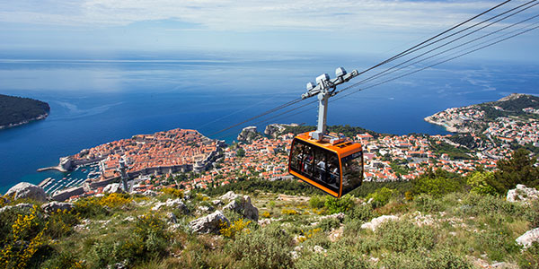 Take the cable car to the top of Mount Srdj