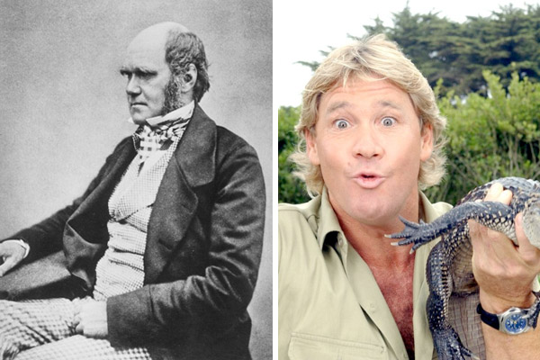 Charles Darwin and Steve Irwin