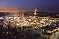 Sunset over Marrakesh night market