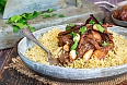 Chicken, date and honey tajine with couscous