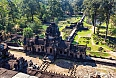 Ancient Buddhist Khmer temple in Angkor Wat complex