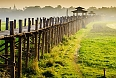 Ubein Bridge at sunrise, Mandalay