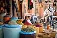 Moroccan herbs alley in Marrakesha medina