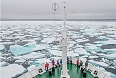 Sailing through the ice floes (Photo by: Jeff Topham)
