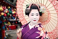 Maiko, an apprentice geiko (not exactly same as geisha) in Kyoto, western Japan