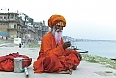 Old Sadhu at the ghats in Varanasi