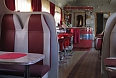 Trans-Siberian Railway car dining area