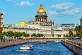 St. Isaac's Cathedral across Moyka river, St. Petersburg