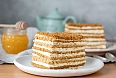 Medovik, a layered honey cake