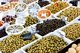 Olives for sale at a market