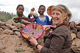 Laurielle buying trinkets