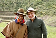 Wayne Walder with a shaman on our 2017 Peru Mindful Journey