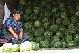 Woman selling watermelons