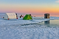 Camp at the floe edge  (Photo credit:Tony Beck)
